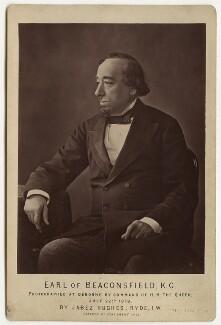 Benjamin Disraeli, Earl of Beaconsfield, by (Cornelius) Jabez Hughes - NPG x666