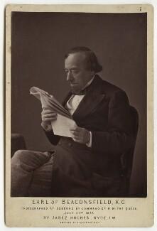 Benjamin Disraeli, Earl of Beaconsfield, by (Cornelius) Jabez Hughes - NPG x668