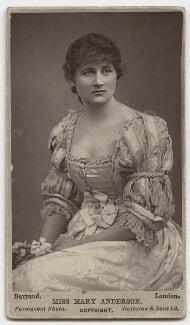 Mary Anderson (Mrs de Navarro), by Herbert Rose Barraud, 1880s - NPG x67 - © National Portrait Gallery, London