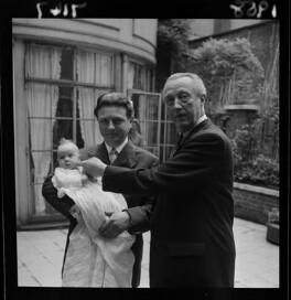 Alexandra Isobel Susanna Edith Sitwell; Sir Sacheverell Sitwell, 6th Bt; Reresby Sitwell, 7th Bt, by Francis Goodman, 1958 - NPG x68809 - © National Portrait Gallery, London
