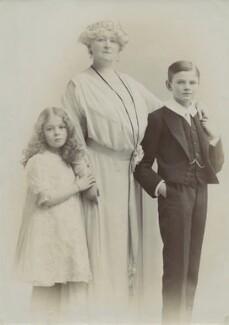 Lady Mercy Marter (née Greville); Frances Evelyn ('Daisy') Greville (née Maynard), Countess of Warwick; Hon. Maynard Greville, by Lallie Charles - NPG x68959