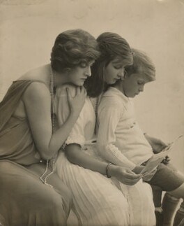 Dame Gladys Cooper; Joan Morley (née Buckmaster); John Rodney Buckmaster, by Rita Martin - NPG x68975