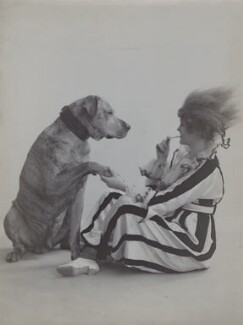 Gertie Millar as Jumping Jack with her dog 'Chum' in 'On The Tiles' a sketch from 'Bric-à-Brac', by Rita Martin, 1916 - NPG x68979 - © National Portrait Gallery, London