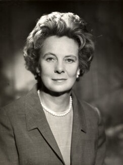 (Gladys) Mary Wilson (née Baldwin), Lady Wilson of Rievaulx, by Vivienne - NPG x88040