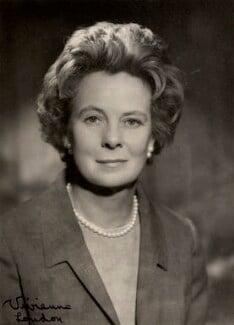 (Gladys) Mary Wilson (née Baldwin), Lady Wilson of Rievaulx, by Vivienne - NPG x88041
