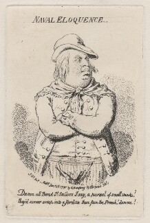 King William IV ('Naval eloquence'), by James Gillray, published by  Hannah Humphrey - NPG D10852