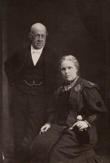 Samuel Augustus Barnett; Dame Henrietta Octavia Weston Barnett, by Elliott & Fry - NPG x696