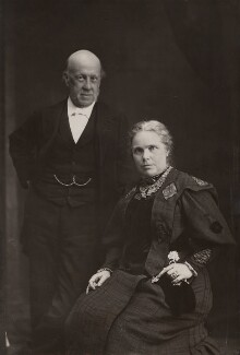 Samuel Augustus Barnett; Dame Henrietta Octavia Weston Barnett, by Elliott & Fry, circa 1905 - NPG x696 - © National Portrait Gallery, London