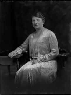 Ada Ellen (née May), Lady Ammon, by Lafayette (Lafayette Ltd), 24 June 1929 - NPG x69674 - © National Portrait Gallery, London