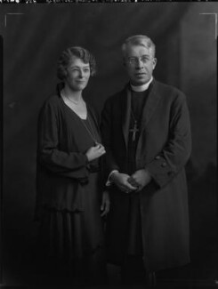 Ethel Katherine Hicks (née Savage); (Frederick Cyril) Nugent Hicks, by Lafayette - NPG x70595