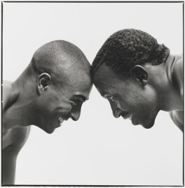 Colin Jackson; Linford Christie, by Jillian Edelstein - NPG x45385