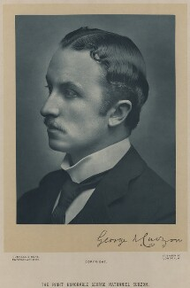George Nathaniel Curzon, Marquess Curzon of Kedleston, by James Russell & Sons - NPG x7090