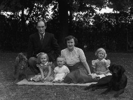 Sir Brian Wyldbore-Smith with his family, by Bassano Ltd - NPG x71318