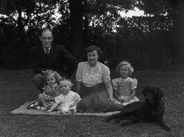 Sir Brian Wyldbore-Smith with his family, by Bassano Ltd - NPG x71319