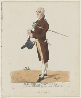 John Ireland ('Ireland in Scotland or a trip from Oxford to the land of cakes'), by and published by Robert Dighton - NPG D10871