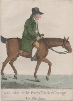 Thomas Clark ('A gentle ride from Exeter 'Change to Pimlico'), by and published by Robert Dighton, published August 1812 - NPG  - © National Portrait Gallery, London
