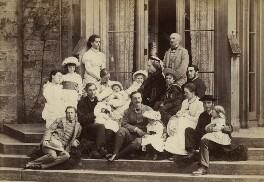 Gladstone family group, by George Watmough Webster & Son, mid-1880s - NPG x7260 - © National Portrait Gallery, London