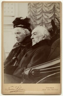 Catherine Gladstone (née Glynne); William Ewart Gladstone, by Numa Blanc - NPG x7262