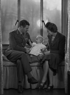 Miss Nye; Colleen Nye (née Knox); Sir Archibald Edward Nye, by Bassano Ltd - NPG x73190