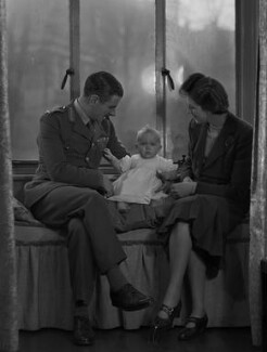 Miss Nye; Colleen Nye (née Knox); Sir Archibald Edward Nye, by Bassano Ltd - NPG x73192