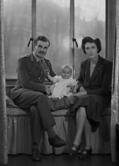 Miss Nye; Sir Archibald Edward Nye; Colleen Nye (née Knox), by Bassano Ltd - NPG x73193