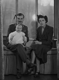 (Una Sheila) Colleen Nye (née Knox) and Sir Archibald Edward Nye with their daughter, Harriet Mary Sheila Newton-Clare (née Nye), by Bassano Ltd - NPG x73196
