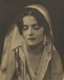 Indira, Maharani of Cooch Behar, by Dorothy Wilding, 1928 - NPG x6366 - © William Hustler and Georgina Hustler / National Portrait Gallery, London