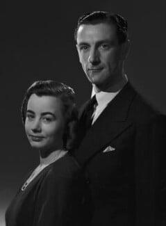 Constance Phillida Anne Jervis (née Logan), Viscountess St Vincent; Ronald George James Jervis, 7th Viscount St Vincent, by Bassano Ltd - NPG x73227