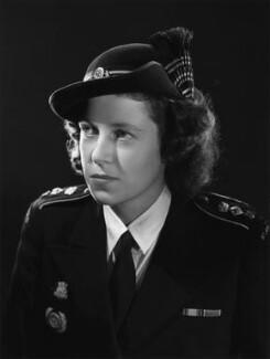 Hon. Rosemary Eva Gorell Gill (née Barnes), by Bassano Ltd - NPG x73349