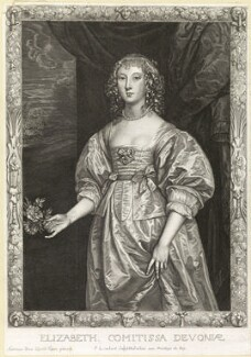 Elizabeth Cavendish (née Cecil), Countess of Devonshire, by Pierre Lombart, after  Sir Anthony van Dyck - NPG D10885