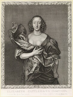 Elizabeth (née Brydges), Countess Castlehaven, by Pierre Lombart, after  Sir Anthony van Dyck - NPG D10889
