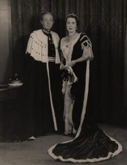 Daniel Stewart Dixon, 2nd Baron Glentoran; Diana Mary (née Wellesley), Lady Glentoran, by Hay Wrightson - NPG x74252
