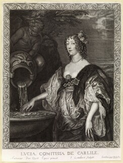 Lucy Hay (née Percy), Countess of Carlisle, by Pierre Lombart, after  Sir Anthony van Dyck - NPG D10893
