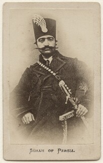 Nasser al-Din, Shah of Persia, by Unknown photographer - NPG x74349