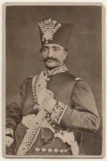 Nasser al-Din, Shah of Persia, by Nadar (Gaspard Félix Tournachon) - NPG x74350