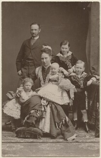 Frederick VIII, King of Denmark with his family, by Elfelt - NPG x74398