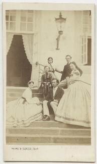 The children of Christian IX, King of Denmark and others, by Georg Emil Hansen, circa 1864 - NPG x74400 - © National Portrait Gallery, London