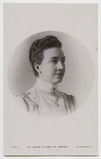 Victoria, Queen of Sweden, published by Rotary Photographic Co Ltd, circa 1907-1908 - NPG x74447 - © National Portrait Gallery, London