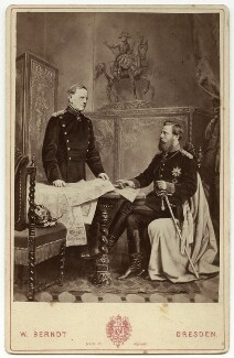 Helmuth Karl Bernhard von Moltke, Count von Moltke; Frederick III, Emperor of Germany and King of Prussia, by W. Berndt - NPG x74483