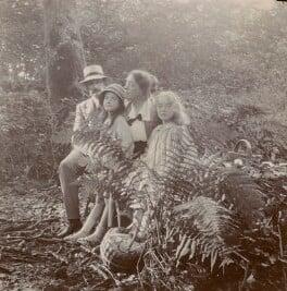 E.Q. Nicholson; Leopold Hamilton Myers; Elsie Myers (née Palmer); Eveleen ('Eve') Clarke (née Myers), by Unknown photographer - NPG x74692