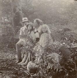 Elsie Queen ('E.Q.') Nicholson (née Myers); Leopold Hamilton Myers; Elsie Myers (née Palmer); Eveleen ('Eve') Clarke (née Myers), by Unknown photographer - NPG x74692