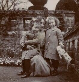 E.Q. Nicholson; Elsie Myers (née Palmer); Eveleen ('Eve') Clarke (née Myers), by Unknown photographer - NPG x74693
