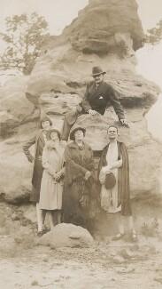 Elsie Queen ('E.Q.') Nicholson (née Myers); Elsie Myers (née Palmer); Leopold Hamilton Myers; Eveleen ('Eve') Clarke (née Myers), by Unknown photographer - NPG x74695