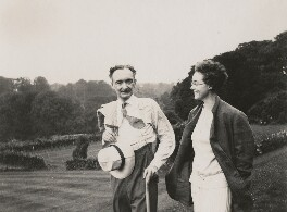 E.Q. Nicholson; Leopold Hamilton Myers, by Unknown photographer - NPG x74696