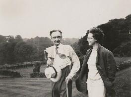 Elsie Queen ('E.Q.') Nicholson (née Myers); Leopold Hamilton Myers, by Unknown photographer - NPG x74696