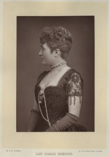 Ellen Jeromina ('Mina') Beresford (née Gardner), Lady Beresford, by W. & D. Downey, published by  Cassell & Company, Ltd - NPG x756