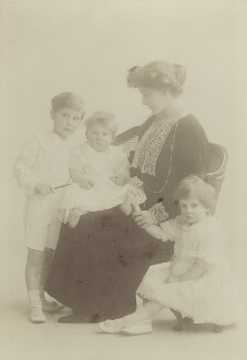 William Waldorf Astor, 3rd Viscount Astor; David Astor; Nancy Astor, Viscountess Astor; Nancy Phyllis Louise Heathcote-Drummond-Willoughby (née Astor), Countess of Ancaster, by Rita Martin - NPG x76182