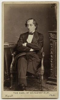 Benjamin Disraeli, Earl of Beaconsfield, by Mayall - NPG x76462