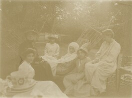 Group including Jane Morris (née Burden), May Morris and Jane Alice ('Jenny') Morris, by Unknown photographer, 1905 - NPG x76491 - © National Portrait Gallery, London