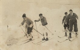Nelson Waite Keys with a group of friends skiing, by Unknown photographer - NPG x76531